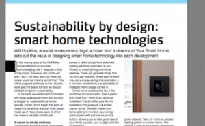 Smart Home Technologies - Sustainability by Design - Will Hopkins