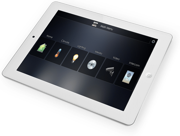 Elan g! Smart Home Interface on iPad