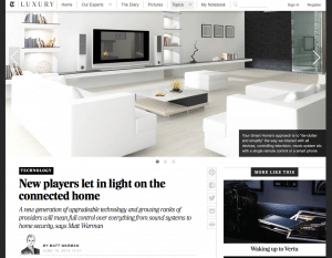 Telegraphy Luxury Covers Your Smart Home on the Connected Home