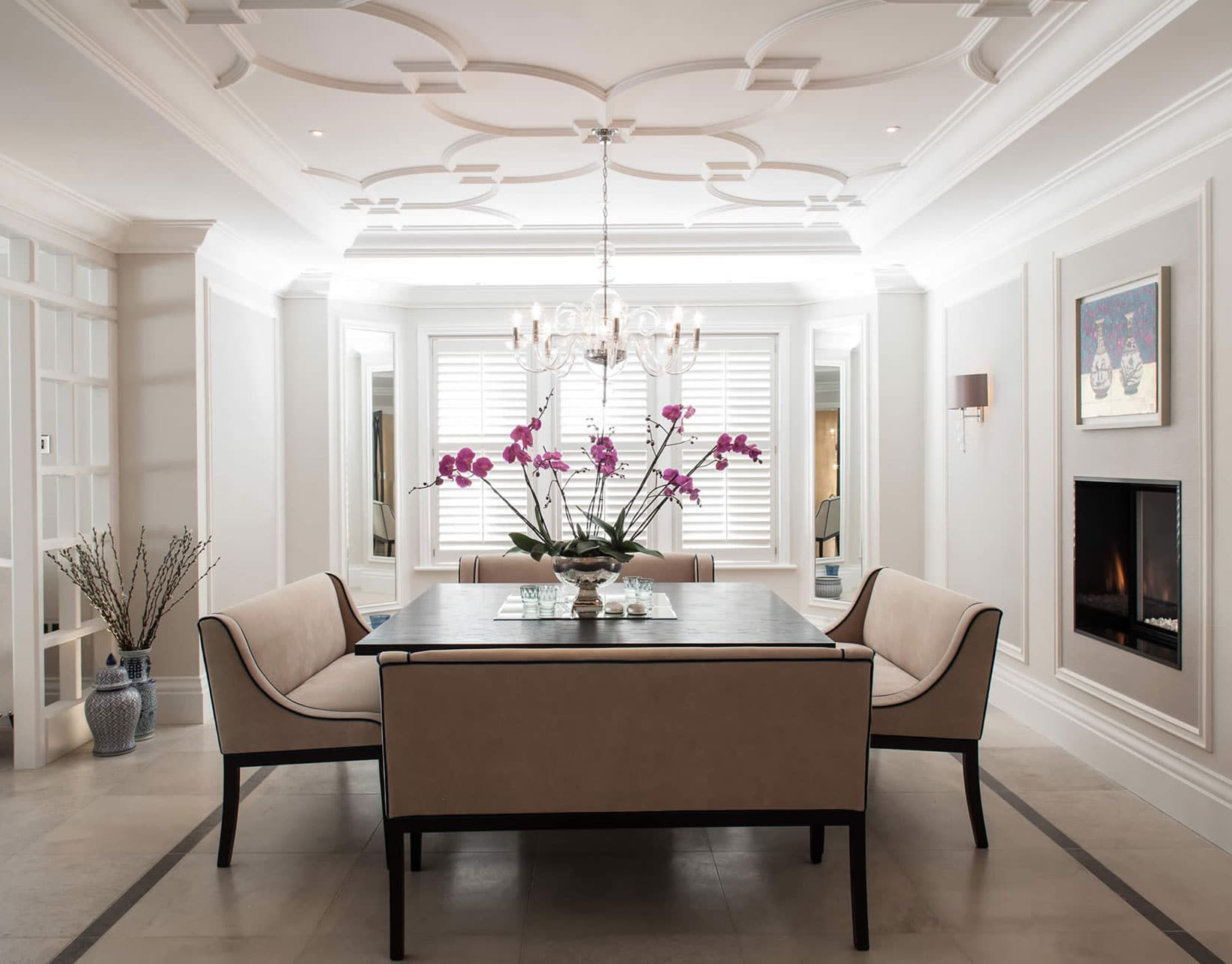 luxury family home dining